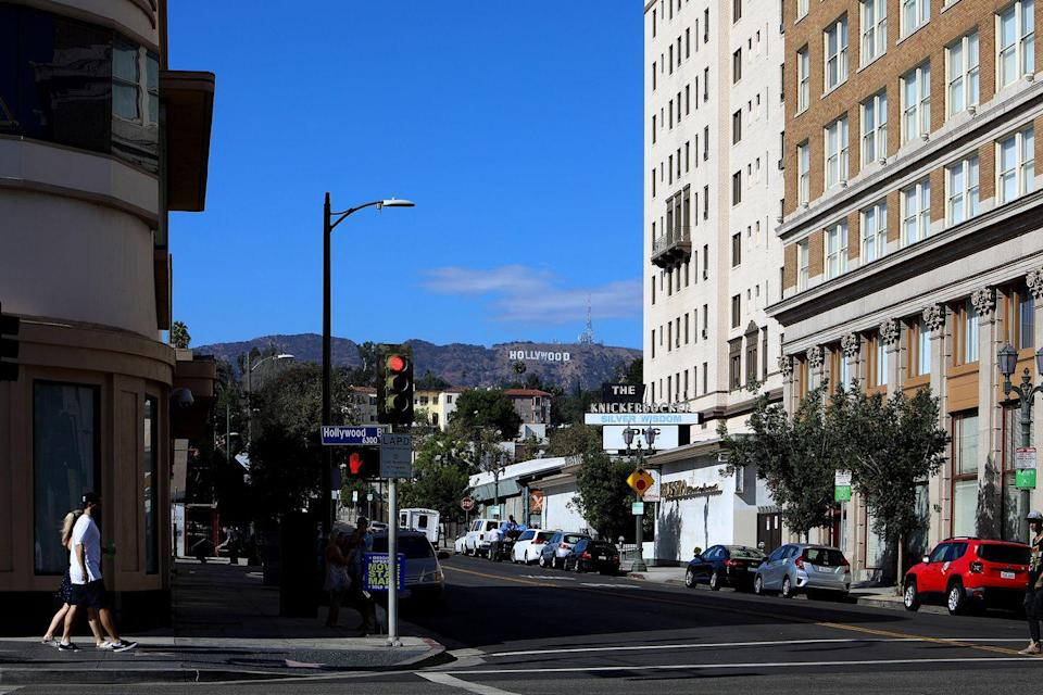 <p>The Hollywood Sign can be seen from different streets throughout LA. <br></p>
