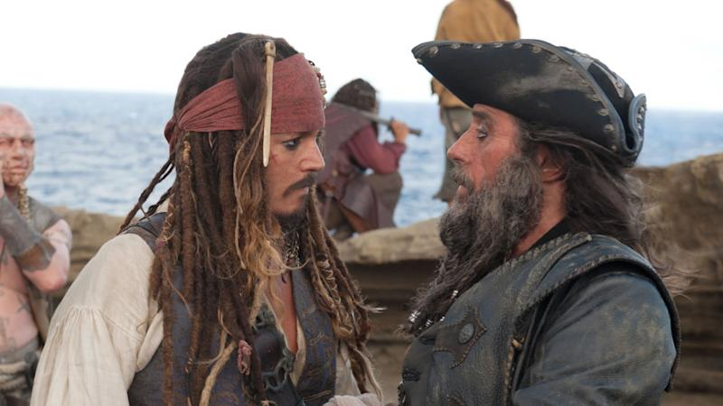 Johnny Depp and Ian McShane in 'Pirates of the Caribbean: On Stranger Tides'. (Credit: Disney/Marvel)