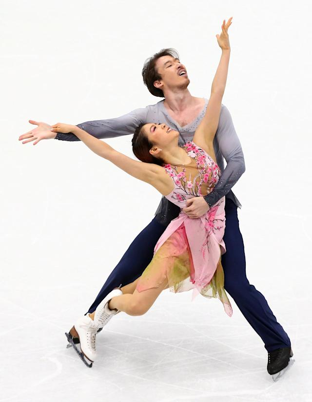 Figure Skating - World Figure Skating Championships - The Mediolanum Forum, Milan, Italy - March 24, 2018 Japan's Kana Muramoto and Chris Reed during the Ice Dance Free Dance REUTERS/Alessandro Bianchi