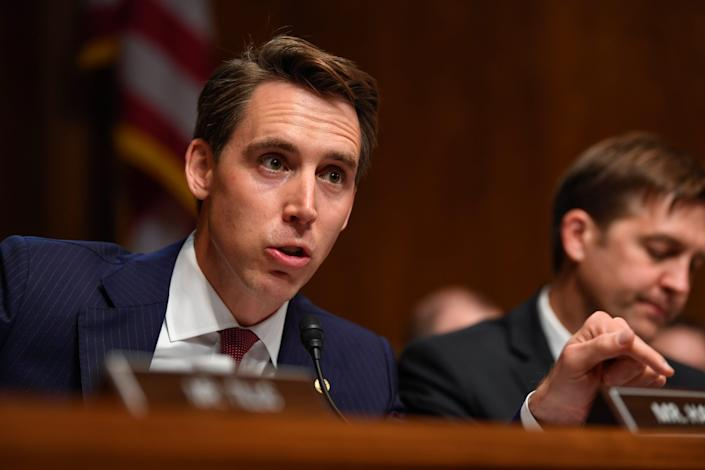 """Sen. Josh Hawley, R-Mo, insists that """"Congress should investigate allegations of voter fraud."""""""