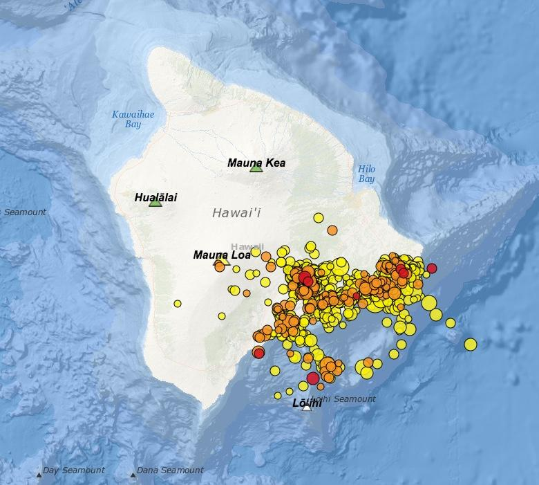 The U.S. Geological Survey has recorded 1,301 earthquakes on the island of Hawaii in the last week