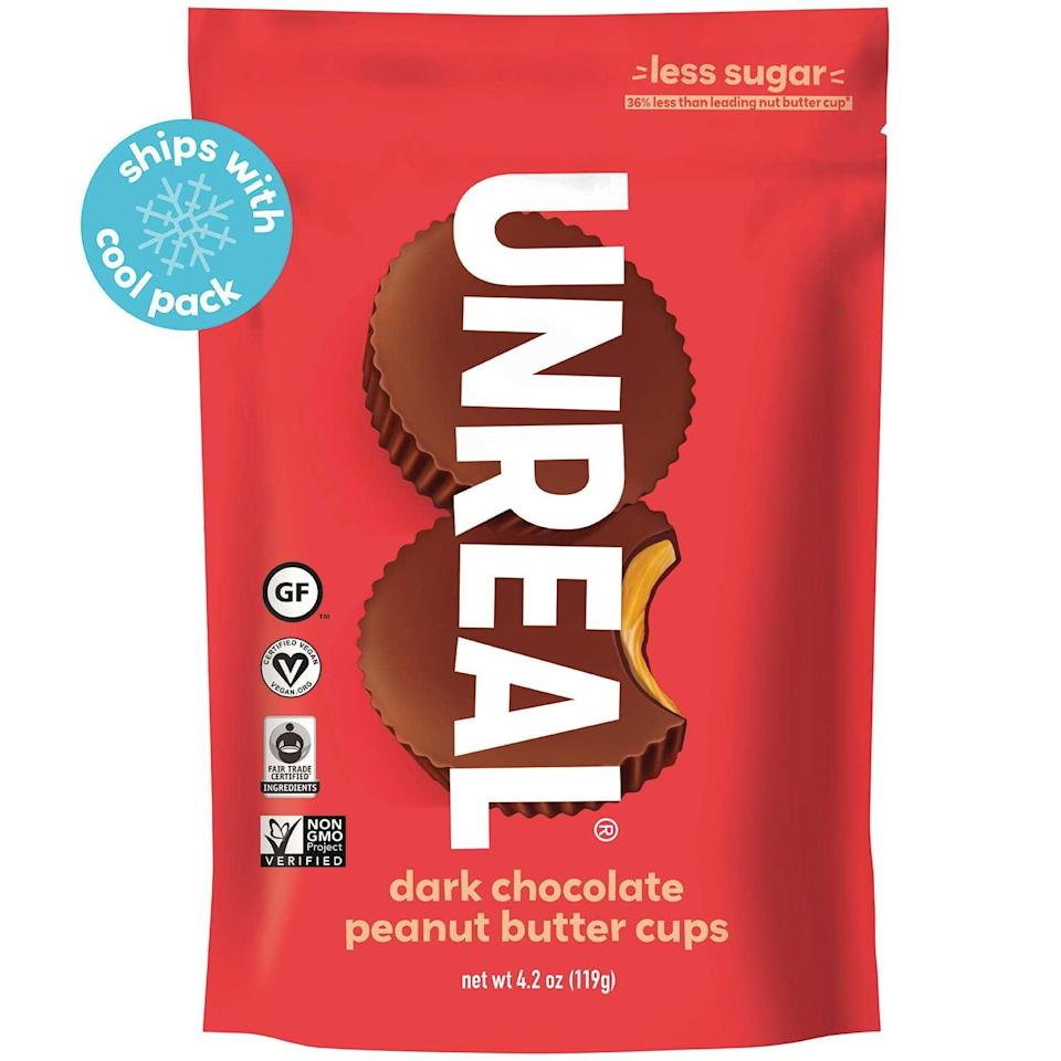 <p>No tricks here! <span>Unreal Dark Chocolate Peanut Butter Cups</span> ($35 for six bags) are vegan, gluten-free, and contain only 5 grams of sugar per cup. We won't blame you if you hoard these peanut butter and chocolate goodies for yourself.</p>