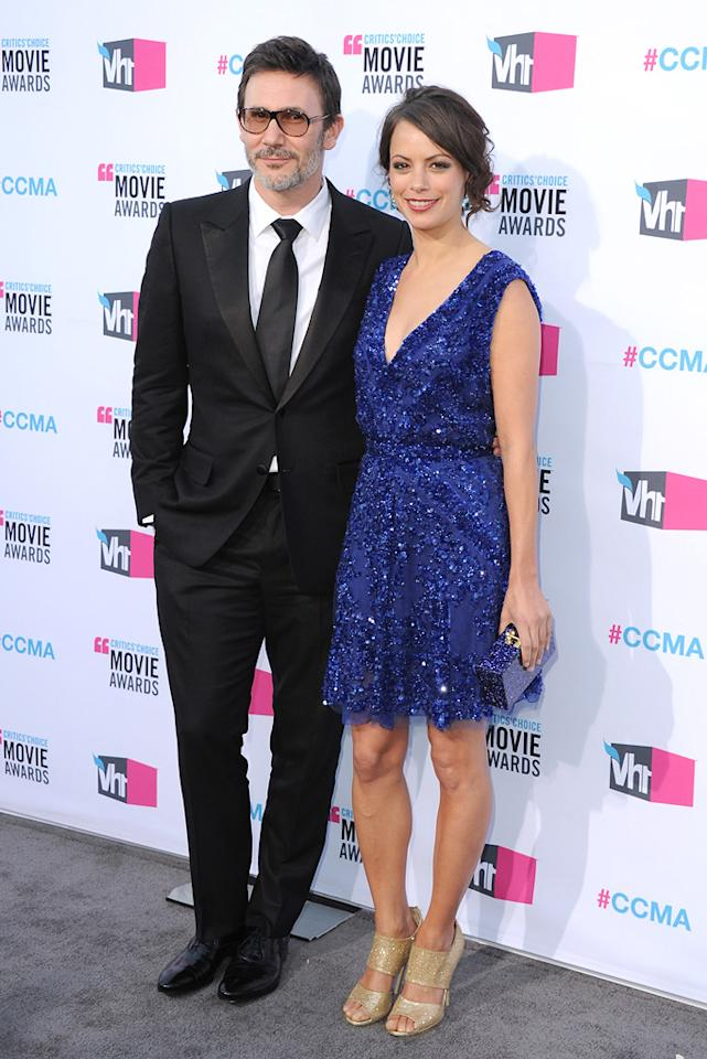 "<a href=""http://movies.yahoo.com/movie/contributor/1808495302"">Michel Hazanavicius</a> and Berenice Bejo at the 17th Annual Critics' Choice Awards in Hollywood on January 12, 2012."