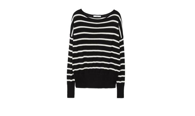 "<p>Fine-knit striped sweater, $30, <a href=""https://shop.mango.com/us/women/cardigans-and-sweaters-sweaters/fine-knit-striped-sweater_23010484.html?c=99&utm_source=polyvore&utm_medium=cpc&utm_campaign=comparador_USA"" rel=""nofollow noopener"" target=""_blank"" data-ylk=""slk:mango.com"" class=""link rapid-noclick-resp"">mango.com</a> </p>"