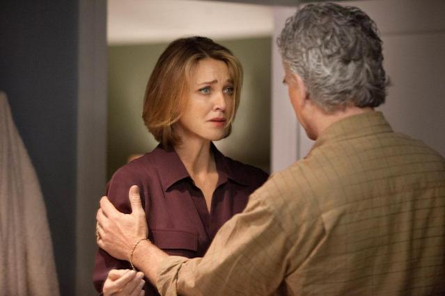 "Brenda Strong and Patrick Duffy in the ""Dallas"" Season 2 episode, ""False Confessions."""