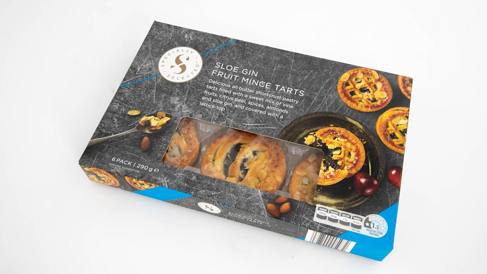 Aldi Specially Selected Sloe Gin Fruit Mince Tarts. Photo: Supplied