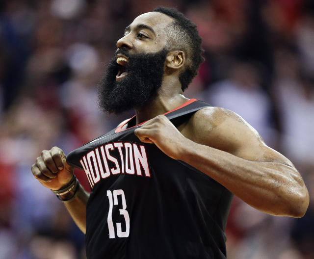 James Harden had a dominant month of January. (AP Photo/Eric Christian Smith)
