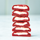 """<p>Add some blue star sprinkles to these cream-filled red velvet cookies for even more patriotic vibes. </p><p><strong><em>Get the recipe for <a href=""""https://www.delish.com/cooking/recipe-ideas/a19633262/inside-out-red-velvet-cookies-recipe/"""" rel=""""nofollow noopener"""" target=""""_blank"""" data-ylk=""""slk:Red Velvet Inside Out Cookies"""" class=""""link rapid-noclick-resp"""">Red Velvet Inside Out Cookies</a>.</em></strong> </p>"""