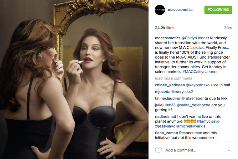 Caitlyn Jenner's MAC Lipstick Gets Stunning Instagram Reveal — And a Slew of Ugly Comments
