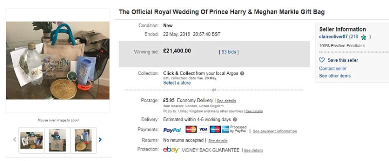 Claire sold her bag for £21,400 on eBay, though it's not known if the bidder has honoured their bid yet. [Photo: eBay]