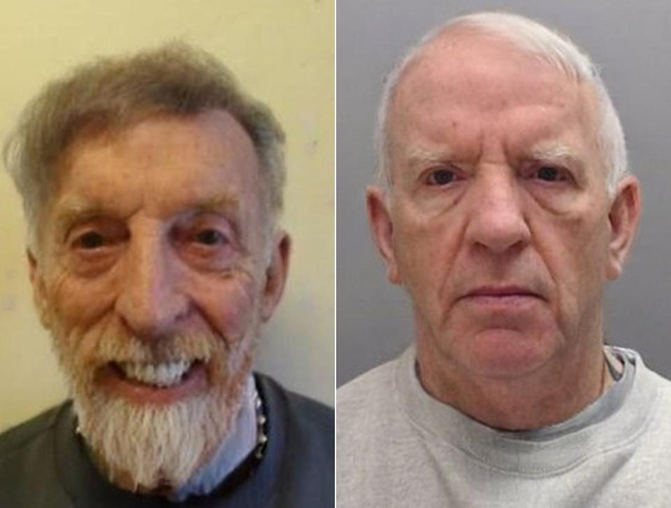 Cheshire Police used digital technology to artificially age criminals Leon Cullen, left, and Anthony Cullen, right. (Cheshire Police)