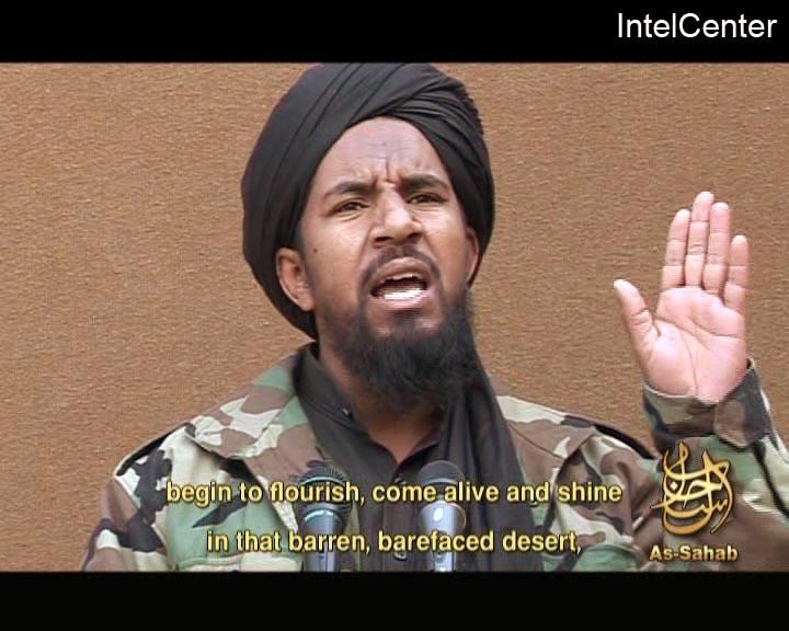 FILE - This March 25, 2007, file image, made from video posted on a website frequented by Islamist militants and provided via the IntelCenter, shows al-Qaida militant Abu Yahia al-Libi. A CIA drone strike Monday, June 4, 2012, targeted al-Qaida's second in command, Abu Yahia al-Libi, in Pakistan, but it was unclear whether he was among those hit, U.S. officials said. U.S. officials say fewer than five people were hit, although Pakistani officials say more than a dozen people were killed in two days of strikes in Pakistan. (AP Photo/IntelCenter, File)  THE ASSOCIATED PRESS HAS NO WAY OF INDEPENDENTLY VERIFYING THE CONTENT, LOCATION OR DATE OF THIS VIDEO