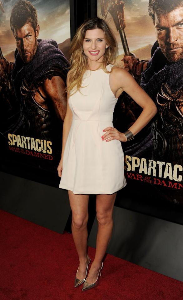 "Viva Bianca attends the premiere of Starz's ""Spartacus: War of the Damned"" at Regal Cinemas L.A. Live on January 22, 2013 in Los Angeles, California."