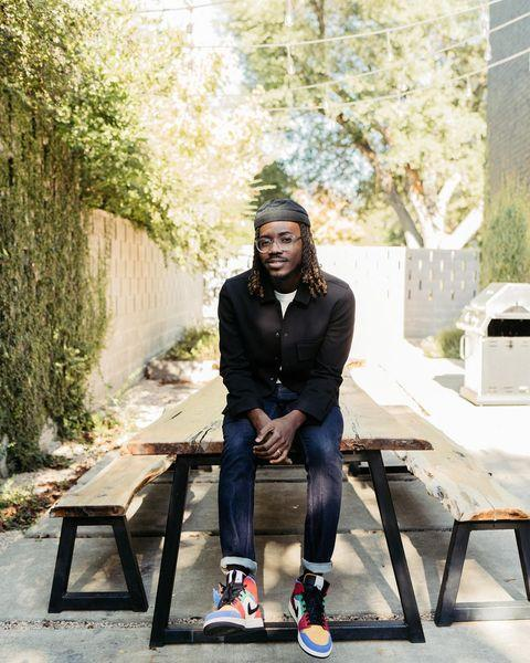 "<p>The Dallas-based multidisciplinary artist, who was born in Lagos, Nigeria, uses art to evoke emotion and tell a story. Coker <a href=""https://temicoker.co/About"" rel=""nofollow noopener"" target=""_blank"" data-ylk=""slk:writes on his website"" class=""link rapid-noclick-resp"">writes on his website</a> that ""his mix of vibrant colors and textures come from his upbringing in Nigeria as well as his love for the African Diaspora."" </p> <p><strong>Instagram: </strong>@<a href=""https://www.instagram.com/temi.coker/?utm_source=ig_embed"" rel=""nofollow noopener"" target=""_blank"" data-ylk=""slk:Temi.Coker"" class=""link rapid-noclick-resp"">Temi.Coker</a>; <strong>Twitter:</strong><a href=""https://twitter.com/temi_coker?lang=en"" rel=""nofollow noopener"" target=""_blank"" data-ylk=""slk:@Temi_Coker"" class=""link rapid-noclick-resp""> @Temi_Coker</a></p>"