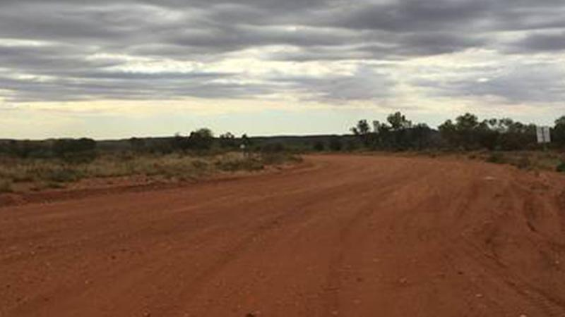 Picture of remote indigenous community Yuendumu in central Australia, where a 19-year-old man was shot and killed by police.