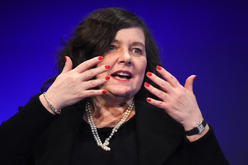 CEO of smartphone-based bank Starling, Anne Boden attends a session at the Paris Fintech Forum  in Paris on January 30, 2018. / AFP PHOTO / ERIC PIERMONT        (Photo credit should read ERIC PIERMONT/AFP via Getty Images)