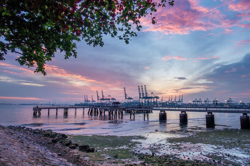 So gorgeous, even Prime Minister Lee Hsien Loong couldn't resist snapping a sunset shot. Photo: Lee Hsien Loong/Facebook