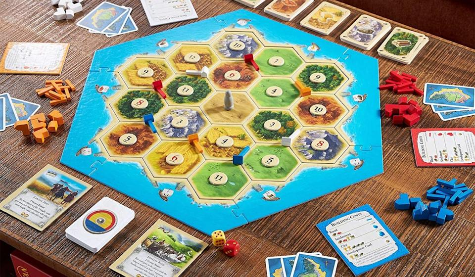 Catan is an incredibly satisfying strategy game for 3-4 players...and incredibly affordable during this sale. (Photo: Catan Studio)