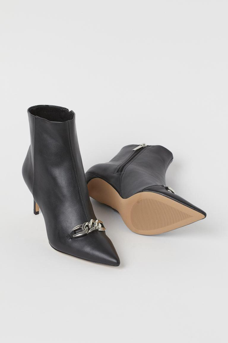 <p>Style these <span>H&amp;M Chain-detail Ankle Boots</span> ($50) with a fitted dress or your favorite denim jeans.</p>