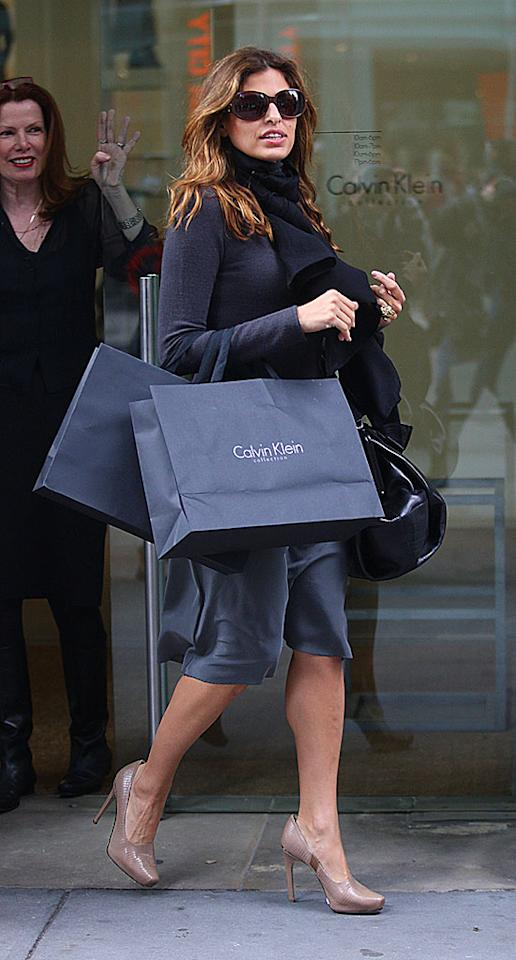 """Another Eva - Eva Mendes - celebrated her 34th birthday with a Madison Avenue shopping spree. The actress recently completed a stint in rehab. There's nothing like a little retail therapy to get back on track! Lawrence Schwartzwald/<a href=""""http://www.splashnewsonline.com"""" target=""""new"""">Splash News</a> - March 5, 2008"""