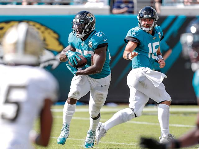 Leonard Fournette finally playing like a difference-making back has been a welcome sign in Jacksonville. (Photo by Don Juan Moore/Getty Images)