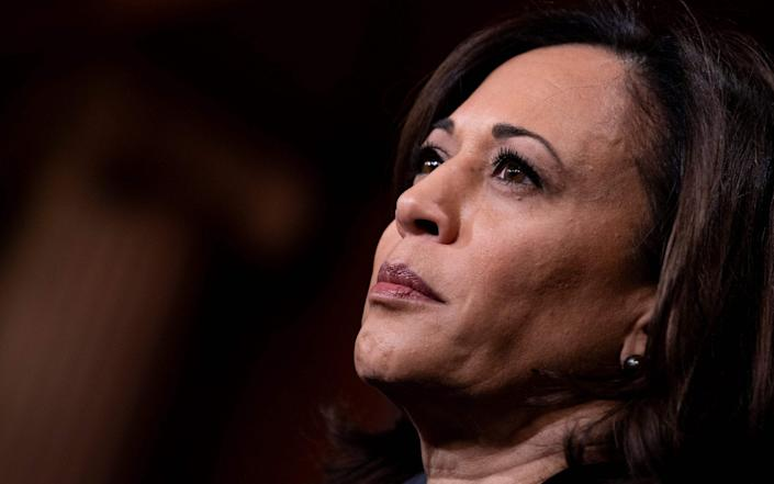 Kamala Harris has been portrayed by Democrats as ruthlessly ambitious - GETTY IMAGES