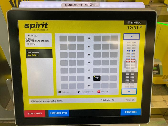 Flying on Spirit Airlines during the COVID-19 pandemic.