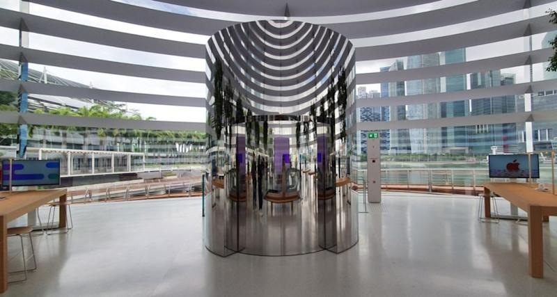 The stainless steel lift. Image: Coconuts Singapore
