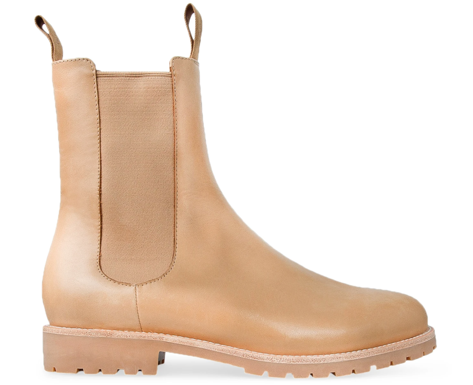 tan pair of boots from Aussie brand Bared Footwear