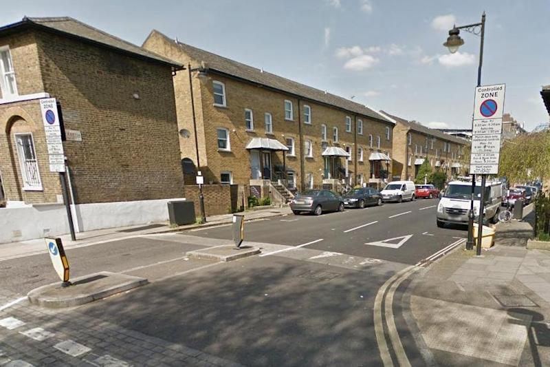 Attack: the mother described the man being 'covered in blood': Google Street View
