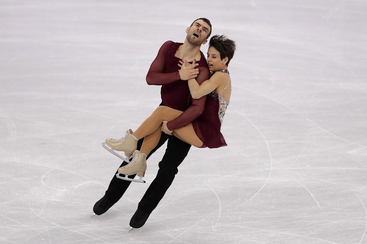 Canada's Eric Radford and Meagan Duhamel compete in team figure skating at the 2018 Winter Olympics in PyeongChang. (AP)