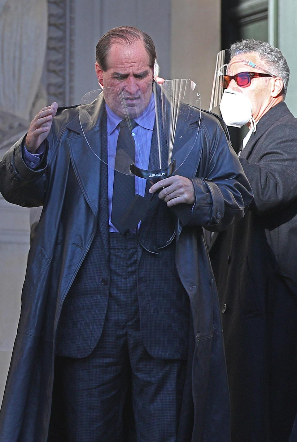 Colin Farrell during the filming of The Batman taking place in Liverpool.