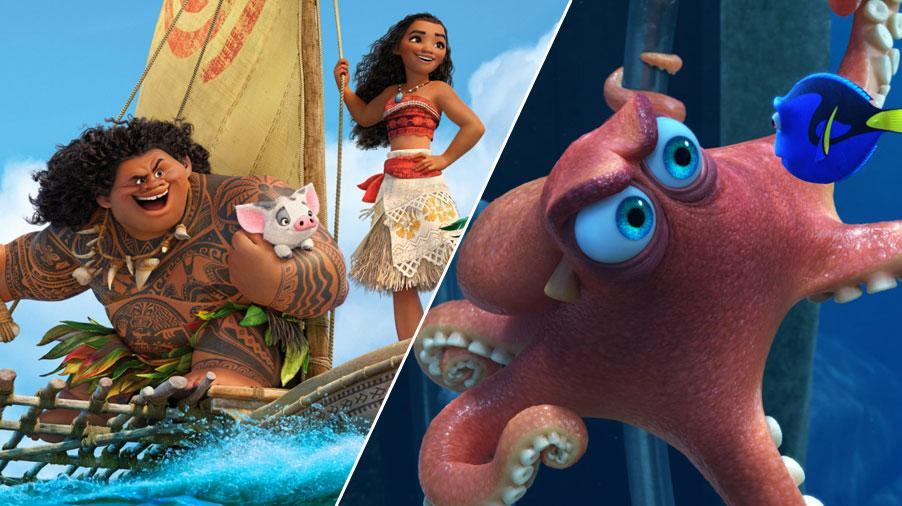 2016 saw 'Moana' taking on 'Finding Dory' at the box office (Credit: Disney)