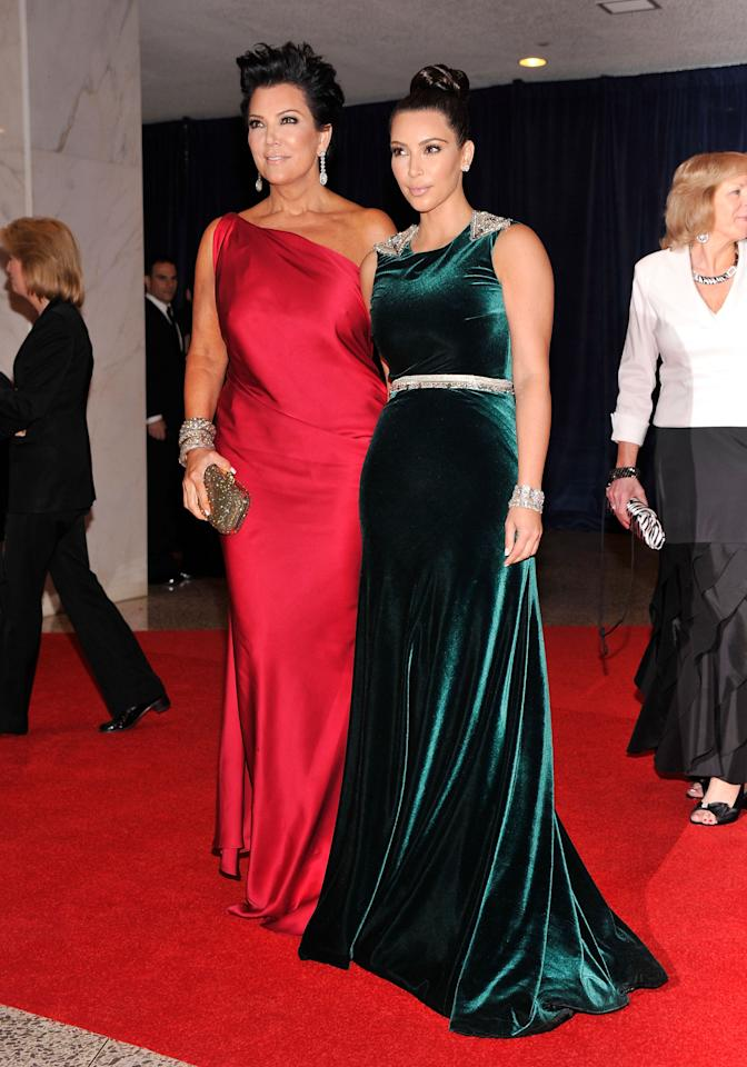WASHINGTON, DC - APRIL 28:  Kris Jenner and Kim Kardashian attends the 98th Annual White House Correspondents' Association Dinner at the Washington Hilton on April 28, 2012 in Washington, DC.  (Photo by Stephen Lovekin/Getty Images)