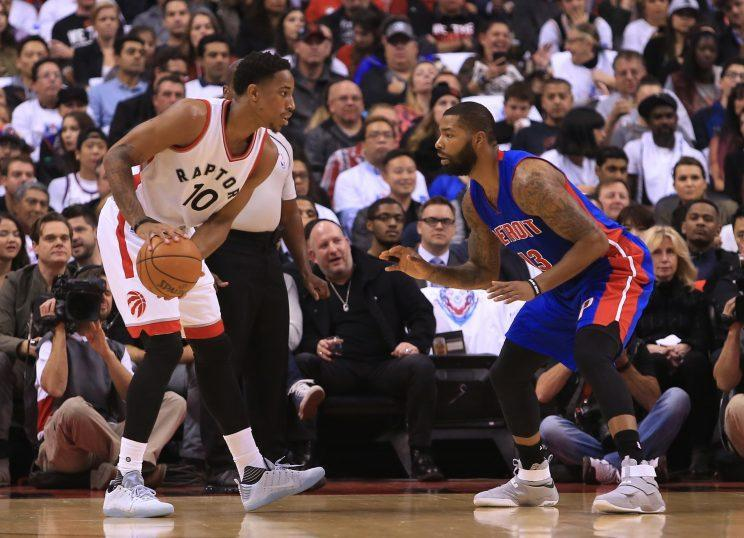 DeMar DeRozan scored 40 against Detroit in his first game of the season. (Getty Images)