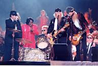 <p>Excuse me, but the Blues Brothers, ZZ Top, <em>and</em> James Brown once got onstage together at the Super Bowl and my dumb self was too busy playing with Pogs at the time to notice. </p>
