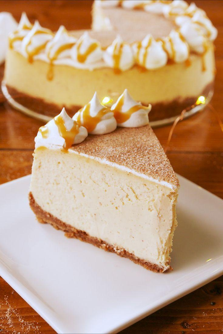 """<p>Trust us—you'll actually taste the RumChata. </p><p>Get the recipe from <a href=""""https://www.delish.com/holiday-recipes/christmas/a25440516/rumchata-cheesecake-recipe/"""" rel=""""nofollow noopener"""" target=""""_blank"""" data-ylk=""""slk:Delish"""" class=""""link rapid-noclick-resp"""">Delish</a>. </p>"""