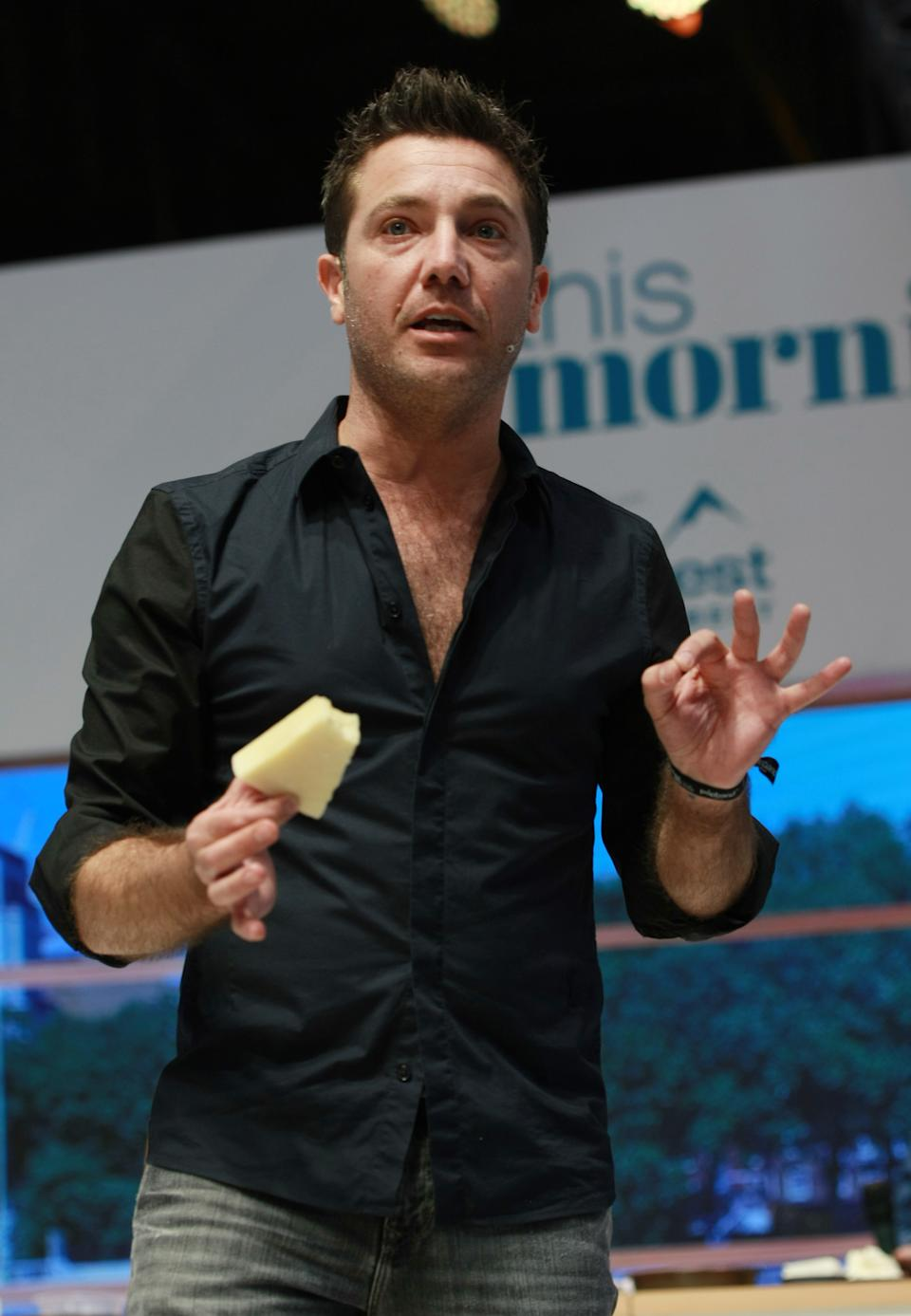 Gino D'Acampo at This Morning Live held at the NEC Birmingham on May 18, 2017. (Photo credit should read Graham Stone / Barcroft Media via Getty Images)