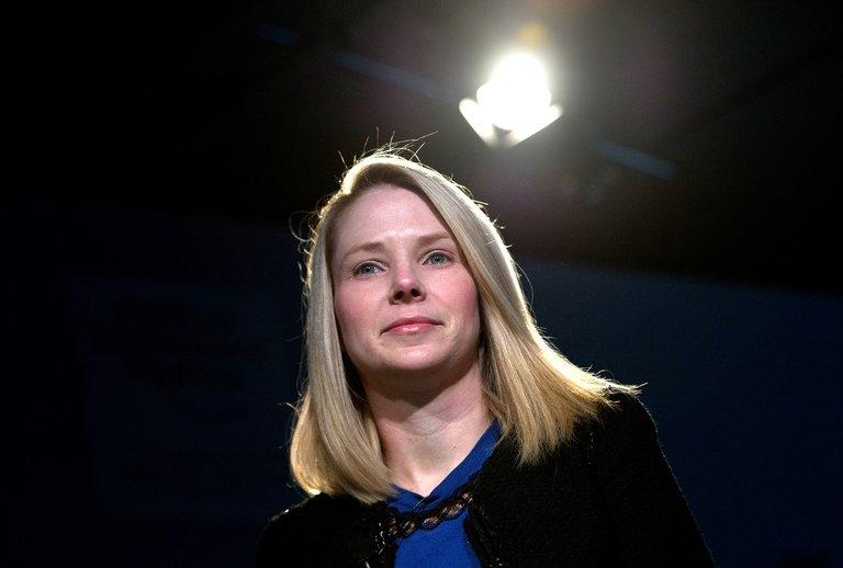Marissa Mayer, CEO of Yahoo!, attends a meeting at the World Economic Forum in Davos on January 25, 2013. The first full fiscal quarter overseen by Mayer show double-digit revenue gain on ads in online search, where Yahoo! ruled supreme before being overthrown by Google