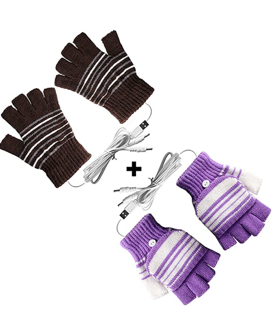 USB Heated Gloves for Men and Women Mitten,