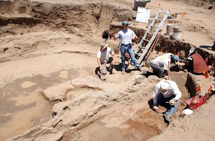 Many Native American cultural items discovered during excavations such as this one, performed in 2005 in the Ridges Basin area south of Durango, Colo., fall under the Native American Graves Protection and Repatriation Act. The act mandates certain identification, consultation and reburial procedures for Native American remains, but lack of lands available for reburial has become an obstacle for tribes across the nation. (AP Photo/The Durango Herald)