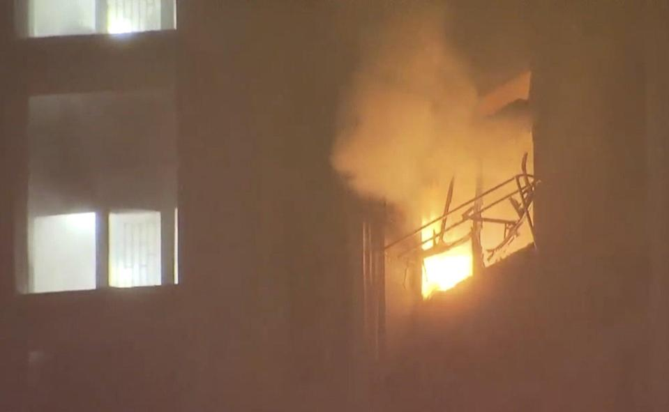 The fire broke out in the early hours of Friday. Photo: TVB News