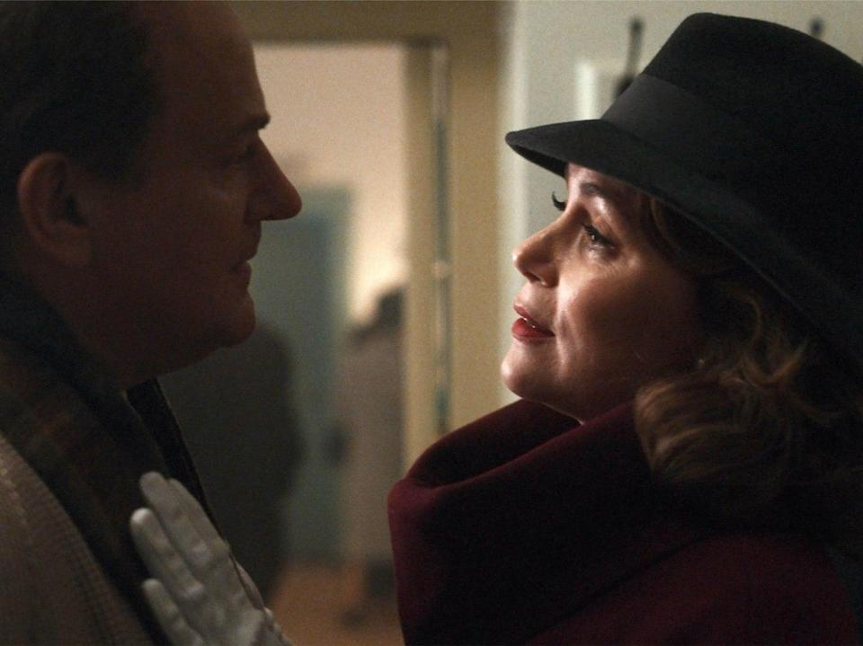 <p>Heartwrenching: Roald Dahl (Hugh Bonneville) and Patricia Neal (Keeley Hawes)</p> (Sky )