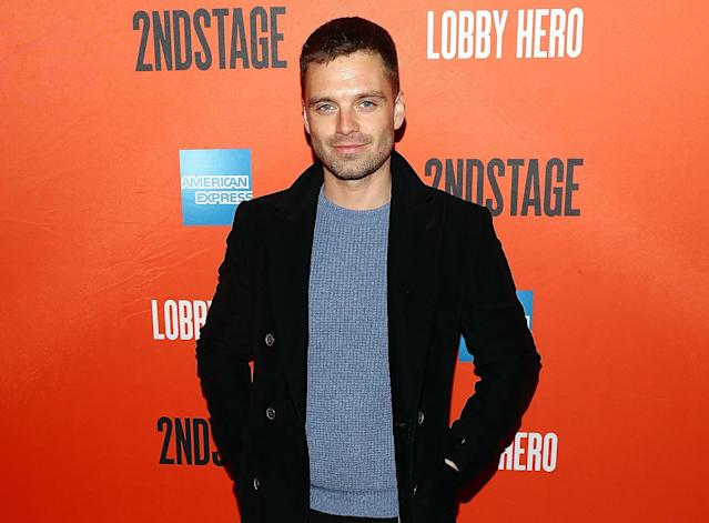 Sebastian Stan at the opening night for Broadway's  <em>Lobby Hero</em> at Hayes Theater on March 26, 2018, in New York City. (Photo: Astrid Stawiarz/Getty Images)