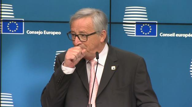 Juncker jokes about food after discussing Brexit over dinner with Theresa May
