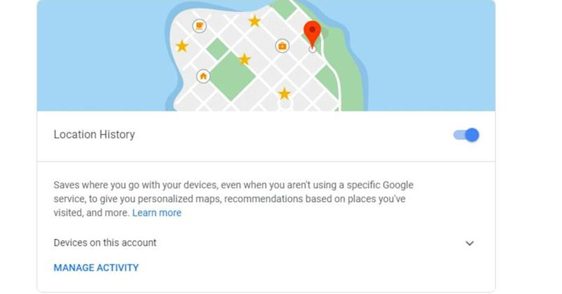 Turn off the option that allows Google to track your location history.