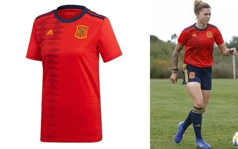 Spain home kit, 2019 Women's World Cup - Credit: ADIDAS
