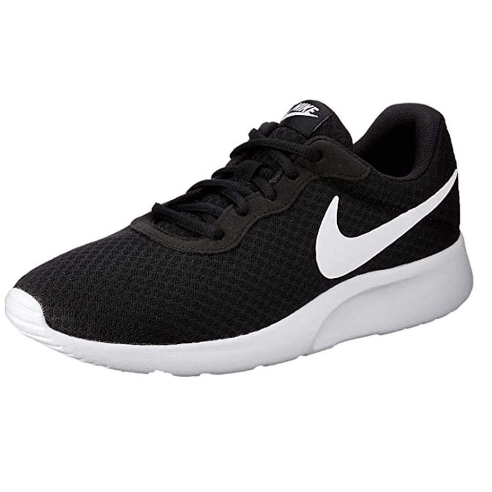 """<p><strong>Nike</strong></p><p>amazon.com</p><p><strong>$120.00</strong></p><p><a href=""""https://www.amazon.com/dp/B00XWPWLR0?tag=syn-yahoo-20&ascsubtag=%5Bartid%7C2139.g.36608417%5Bsrc%7Cyahoo-us"""" rel=""""nofollow noopener"""" target=""""_blank"""" data-ylk=""""slk:BUY IT HERE"""" class=""""link rapid-noclick-resp"""">BUY IT HERE</a></p><p>Come summertime, lightweight, breathable sneakers you can wear in sweltering temps become a necessity. Enter: Nike's Tanjun shoe, created with a mesh upper that'll keep you cool while you run. This customer-favorite pair features an injected unitsole for minimal cushioning you'll definitely appreciate. <br></p>"""