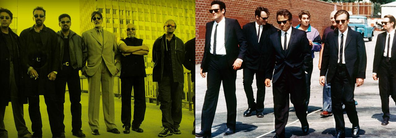 Quentin Tarantino's first film Reservoir Dogs inspired this critically acclaimed Hindi remake by Sanjay Gupta. In fact, Tarantino has also said that Kaante is his favorite among all international remakes of Reservoir Dogs. The Hollywood version starring Tim Roth, Harvey Keitel, Michael Madsen among others is the story of a gang of strangers who are brought together to rob a bank. When the robbery goes wrong and a member gets shot, the others wonder if the mission was actually an ambush! Kaante, starring Amitabh Bachchan, Sanjay Dutt, Suniel Shetty, Lucky Ali and Mahesh Manjrekar, starts with The Usual Suspects-like premise of a bunch of people wrongfully placed under lock-up. Also, unlike the Hollywood version, our boys have backstories and reasons to be crooks.