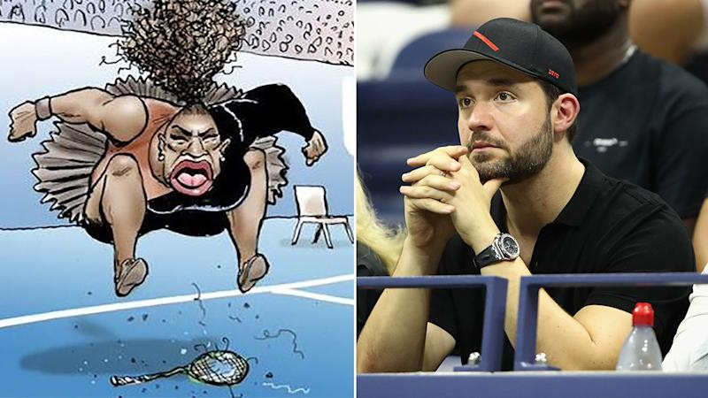 Aussie newspaper defends cartoonist after controversial Serena Williams depiction